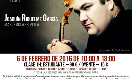 Evento expirado:Masterclass de viola de Joaquín Riquelme en Barcelona
