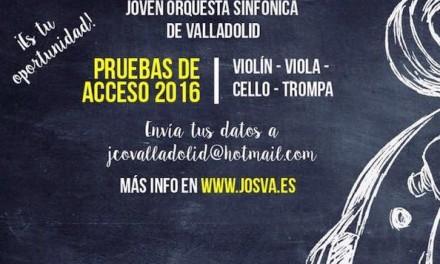 La JOSVa selecciona violín, viola y violonchelo.