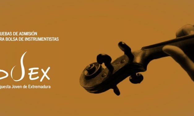 Convocatoria de pruebas de admisión para la Orquesta Joven de Extremadura