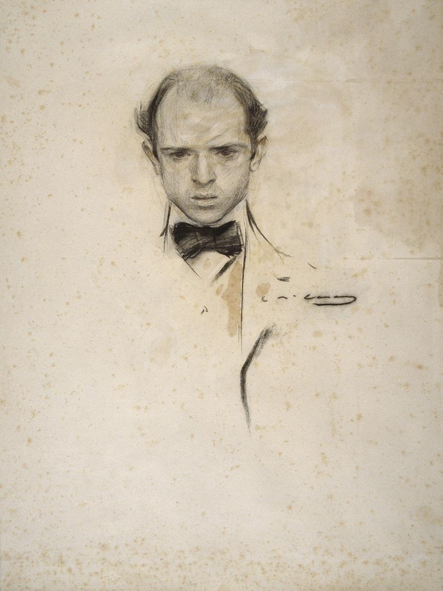 Retrato de Pau Casals, por Ramón Casas