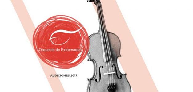 Bolsa de trabajo para violines en la Orquesta de Extremadura 2017
