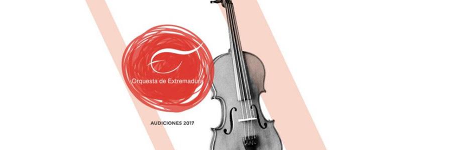 Evento expirado:Bolsa de trabajo para violines en la Orquesta de Extremadura 2017