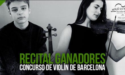 Recital del 1er Concurso de violín de Barcelona