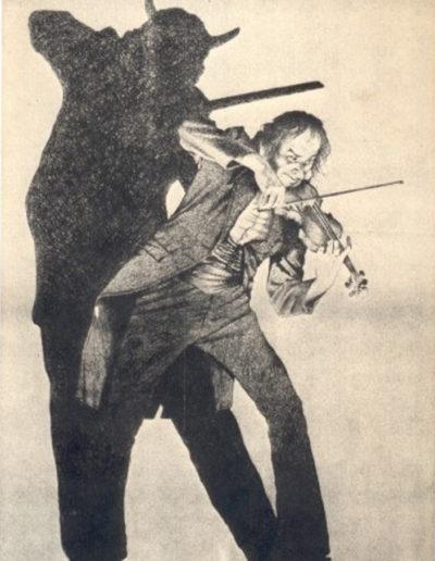 Dibujo de Paganini como demonio