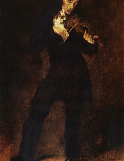 Retrato de Paganini por Delacroix