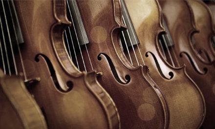 Exposición de violines antiguos en Violines de Luthier, Madrid.
