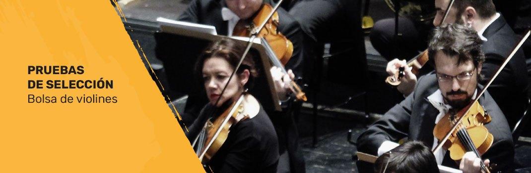 Bolsa de trabajo para violines tutti en la Orquesta de Extremadura