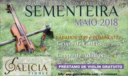 Sementeira, proyecto de iniciación al violín folk en Galicia