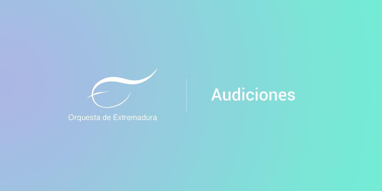Audiciones a viola tutti en la Orquesta de Extremadura