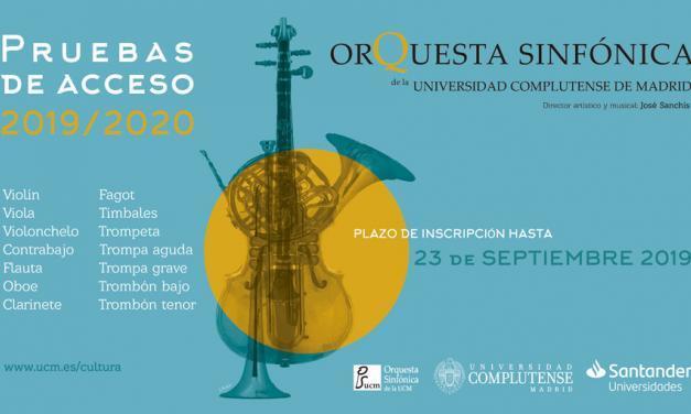 Convocatoria de pruebas de acceso para la Orquesta Sinfónica UCM