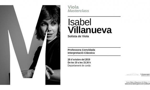 Masterclass de Isabel Villanueva