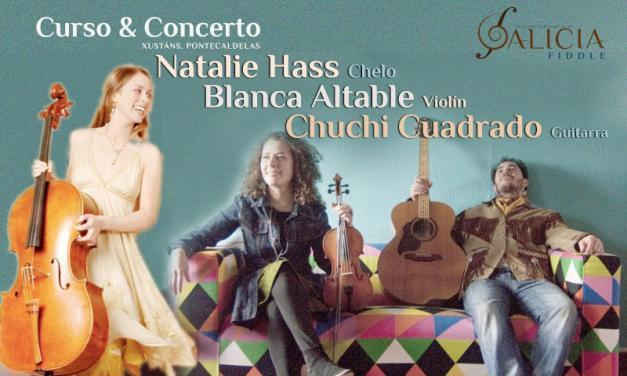 Curso fiddle y concierto con Blanca Altable, Natalie Haas y Chuchi Cuadrado