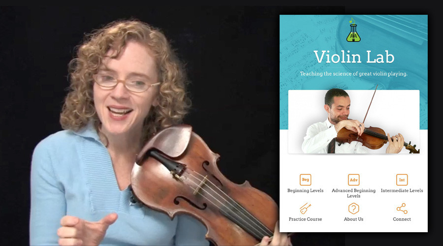 Probando cursos on-line: Violin Lab