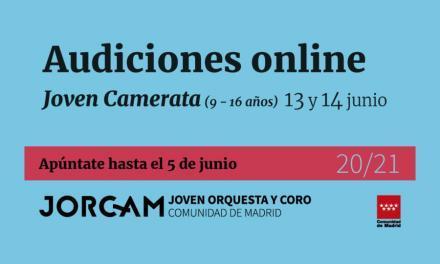 Pruebas de acceso 2020 on-line a la Joven Camerata de la JORCAM