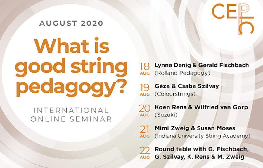 """What is good string pedagogy?"" – Seminario Internacional Online en el CEPIC"