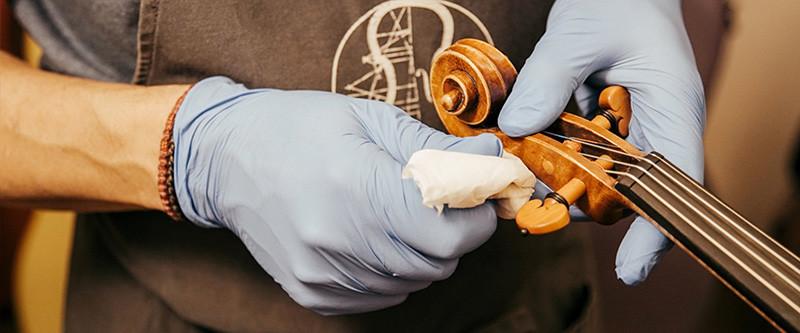Desinfección de instrumentos de cuerda