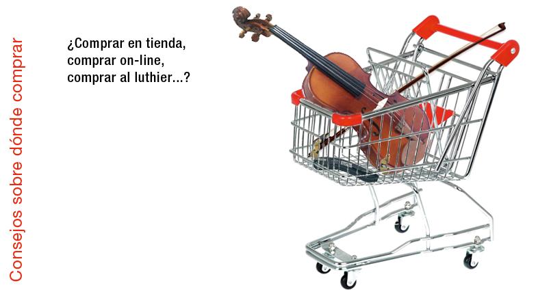 Comprar online, comprar en tienda, comprar al luthier…