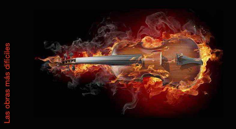 Las 15 obras para violín más difíciles de la historia.